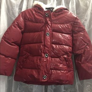 Gymboree Girl's Red Puff Jacket Size 4T-5T